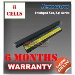 Baterai IBM Thinkpad X40, X41 Series (Machine type 2371 2372 2382 2386)