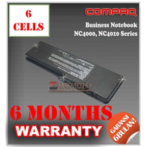 Baterai HP Compaq Business Notebook NC4000, NC4010, Compaq DD880A Series