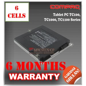 Baterai Compaq Tablet PC TC100, TC1000, TC1100, PP3010 Series