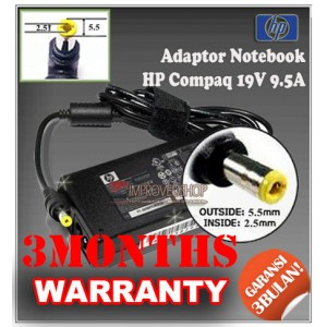 2.7 Adaptor HP-COMPAQ 19V 9.5A Series (Konektor 5.5 x 2.5mm)