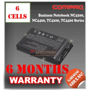 Baterai HP Compaq Business Notebook NC4200, NC4400, TC4200, TC4400, HP 4400 Series