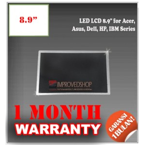 "LED LCD 8.9"" for Acer, Asus, Dell, HP, IBM Series Panel Screen Notebook/Netbook/Laptop Original Parts New"