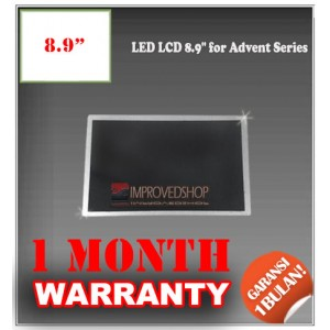 "LED LCD 8.9"" for Advent Series Panel Screen Notebook/Netbook/Laptop Original Parts New"