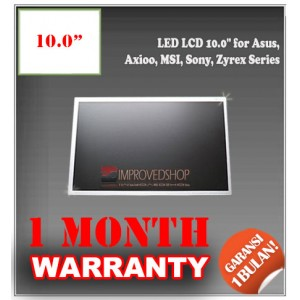 "LED LCD 10.0"" for Asus, Axioo, MSI, Sony, Zyrex Series Panel Screen Notebook/Netbook/Laptop Original Parts New"