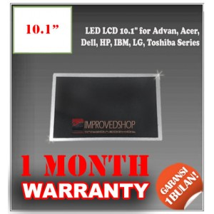 "LED LCD 10.1"" for Advan, Acer, Dell, HP, IBM, LG, Toshiba Series Panel Screen Notebook/Netbook/Laptop Original Parts New"